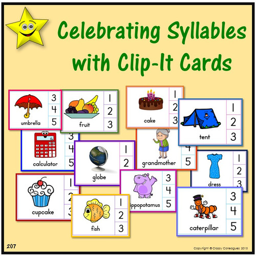 Celebrating Syllables with Clip-It Cards