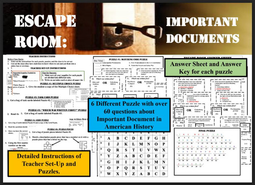 Escape Room: Important Documents in American History