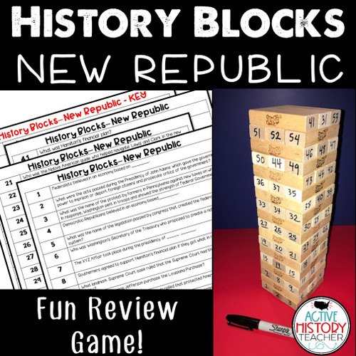 US History Review Game - History Blocks - New Republic - STAAR Review