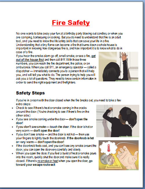 Fire Safety and steps to safety if a fire breaks out