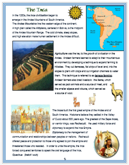 The Inca - An Overview + Assessment