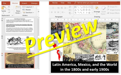 Mexico & Latin America in the 1800s and early 1900s