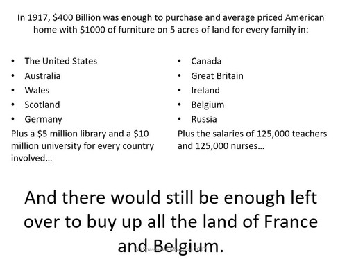World War One:  The Incredible Cost