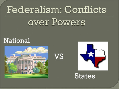 Federalism Lesson: Investigate Supreme Court Cases between State and National Power