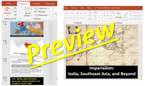 Imperialism: India, South East Asia, & Beyond