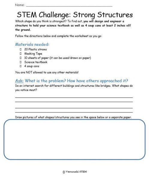STEM Challenge: Strong Structures