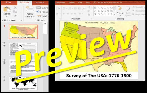 Survey of the USA: 1776-1900