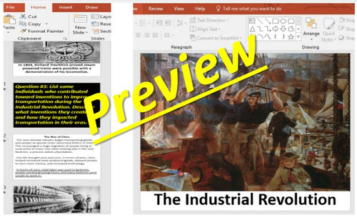 The Industrial Revolution PPT, Guided Notes and Activities