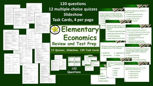 Elementary Economics Review and Test Prep