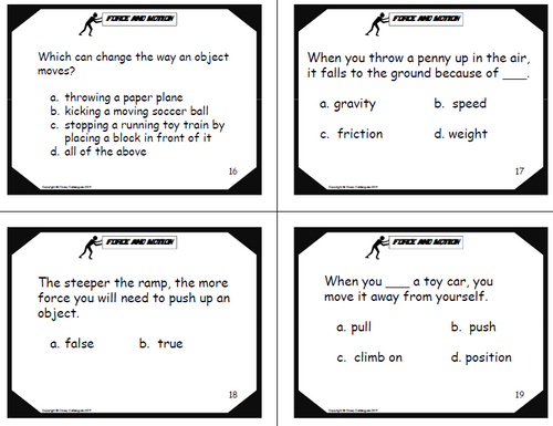 Force and Motion Review and Test Prep