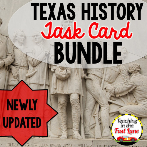 Texas History Task Cards Bundle