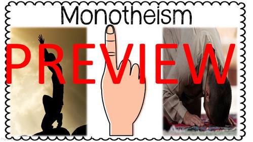 Monotheistic Religions Gallery Walk - NO PREP