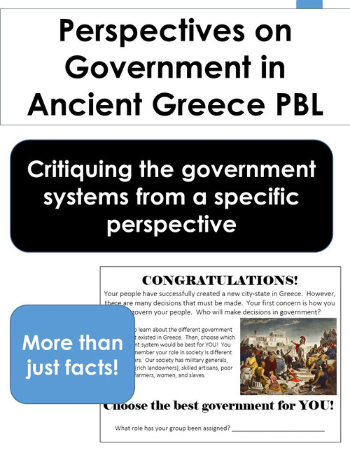 Perspectives on Government in Ancient Greece PBL