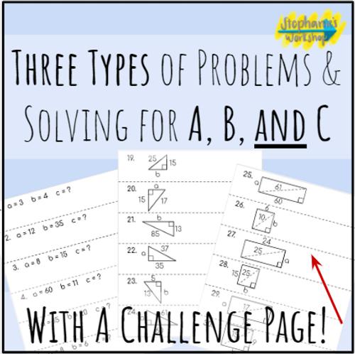 Fluency Chains - Pythagorean Theorem