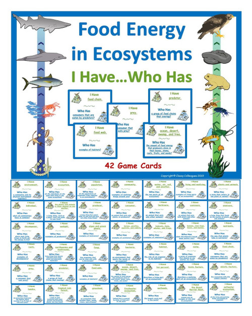 Food Energy in Ecosystems