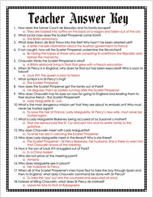 The Scarlet Pimpernel Movie Guide