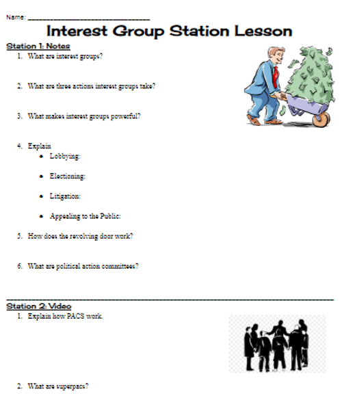 Interest Group Stations Lesson- 5 editable stations