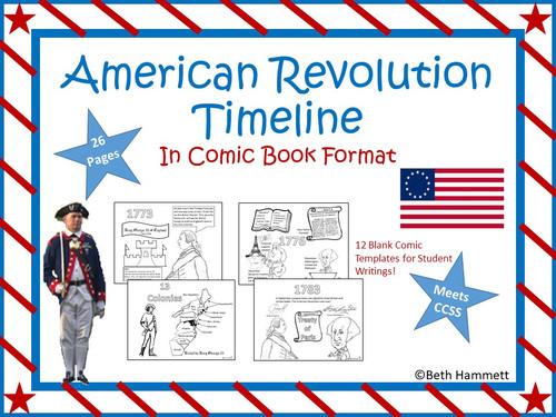 American Revolution Timeline (in Comic Book Format)