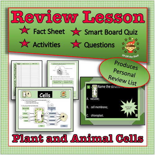 plant and animal cells - review game