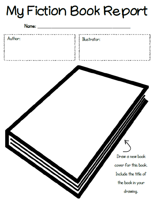 Fiction Book Report Packet
