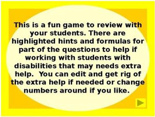Lemon Drop: Percent Review Game