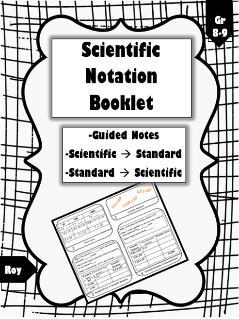 Scientific Notation Intro: Foldable/Booklet