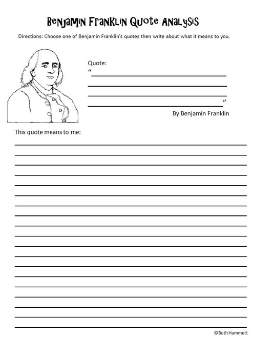 Benjamin Franklin's Birthday: 10 Critical Thinking Activities