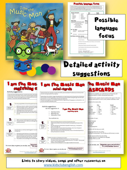 I am the Music man Games pack activity suggestions