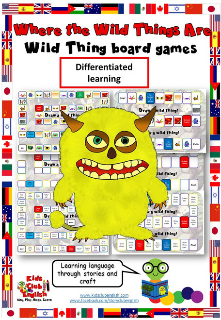 Where the Wild Things Are - Body Parts Board Games and Craft resource cover