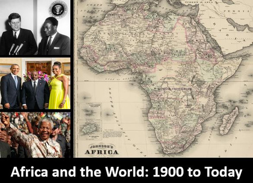 Africa and the World: 1900 to Today: Power Point, Notes, & Worksheets