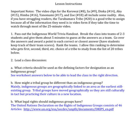 Indigenous Tribes - An Introduction to Culture