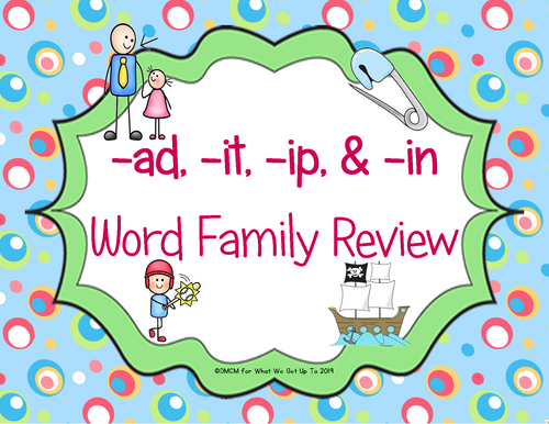 -ad, -it, -ip, in Family Review