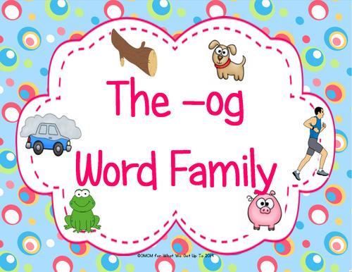The -og Word Family