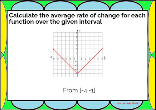 Average Rate of Change of Non-Linear Functions: Google Slides - 20 Problems