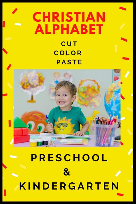 Christian Alphabet Activity   Cut, Color, and Paste