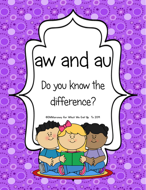 aw and au: Do You Know the Difference