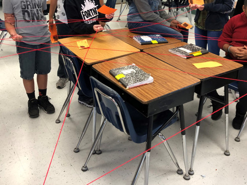 Create a large classroom food web to get the students up out of their seat