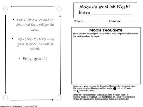 Moon Journal Science Lab