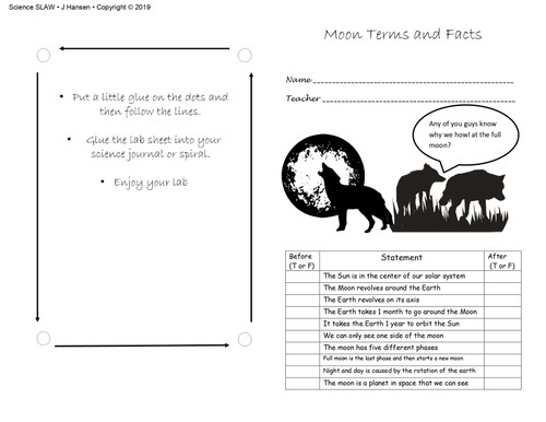 Moon Phase Terms and Oreo lab