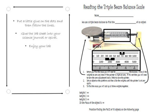 Reading From the Triple Beam Balance
