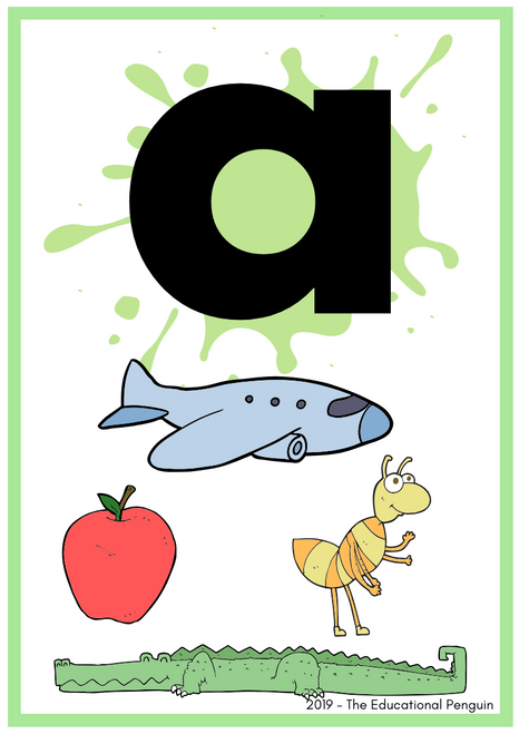A to Z Letter Flashcards