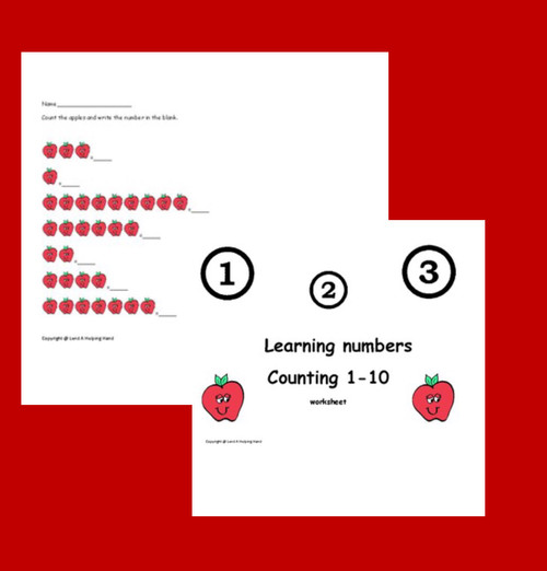 Apple Counting Worksheet