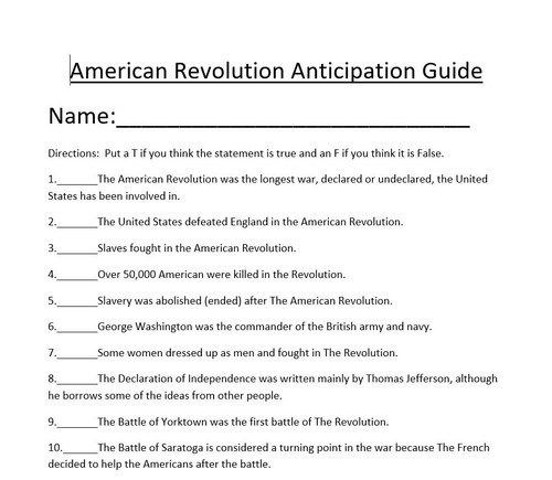 American Revolution 3-5 Week Unit: No Prep