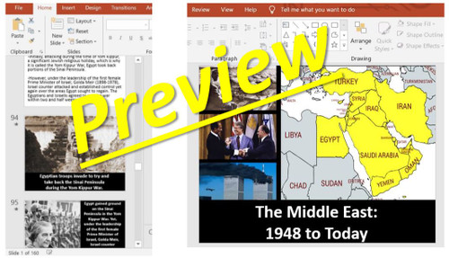 The Middle East & the World: 1948 to Today: Power Point, Worksheets, & Notes