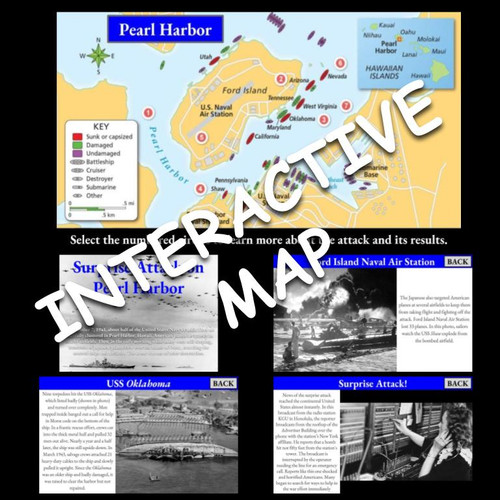 Interactive Map: Pearl Harbor and Japanese Aggression (1941-1942)