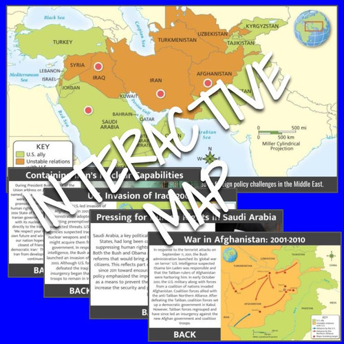Interactive Map: United States and the Middle East: 2001-2010