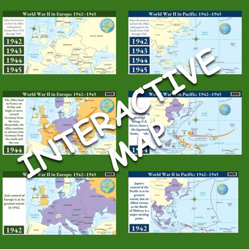 Interactive Maps: World War II in Europe and Pacific (1942-1945)