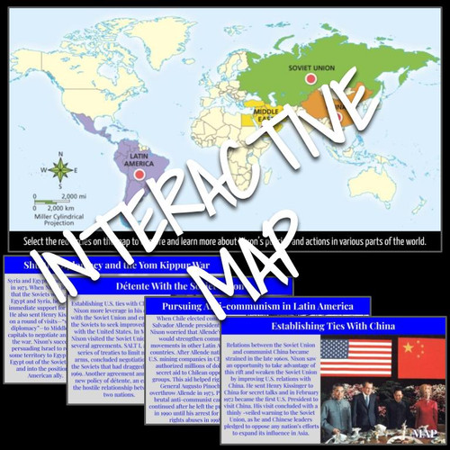 Interactive Map: Nixon's Foreign Policy