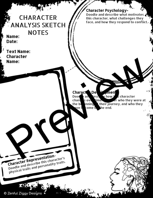 Character Analysis Sketch Notes #1