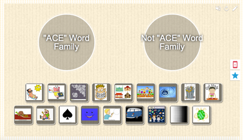 """All """"A"""" Word Family Picture Sort"""